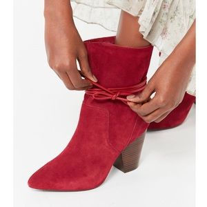 Red urban outfitters boots